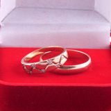 Wedding rings. Two gold wedding rings in a red box a close up Royalty Free Stock Image