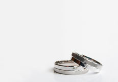 Wedding rings. With crystal, white gold Royalty Free Stock Photos