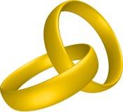Wedding rings. Illustration of two golden wedding rings Stock Photo