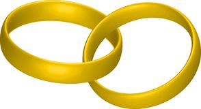 Wedding rings. Illustration of two golden wedding rings Royalty Free Illustration