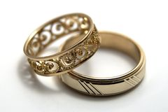 Wedding rings. Rings for he and she Royalty Free Stock Image
