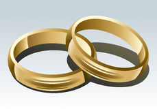 Wedding Rings. On White Background. Vector Illustration Stock Images