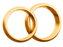 Wedding rings. Two golden wedding rings isoleted Royalty Free Stock Photo