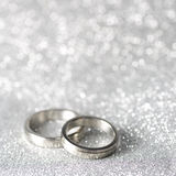 Wedding rings. On a silver background Royalty Free Stock Image