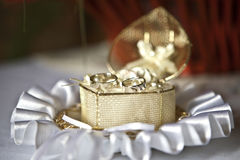 Wedding rings. In Snow-white  heart Box Stock Photography