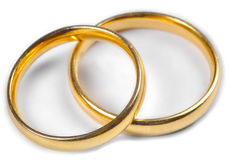 Wedding Rings. Two wedding rings on a white background Stock Images