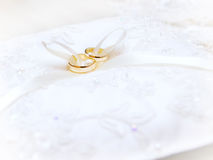 Wedding rings. On a pillow Royalty Free Stock Image