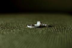 Wedding rings. On the sofa Royalty Free Stock Photos
