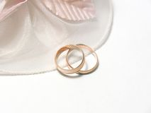 Wedding rings. Obligatory attribute of each wedding - wedding rings Stock Photo