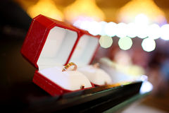Wedding rings. In the box Royalty Free Stock Photography