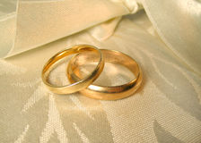 Wedding rings. Set of gold wedding rings Royalty Free Stock Photo