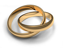 Wedding Rings. Wedding ring as a symbol of eternal love royalty free illustration