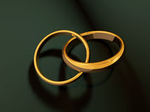 Wedding Rings. Illustration of two bounded Wedding Rings vector illustration