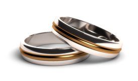 Wedding rings. (High resulation Computer generated image stock illustration
