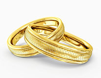 Wedding rings. Isolated on a white background Royalty Free Stock Photography