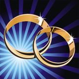 Wedding rings. Vector illustrations of wedding rings Royalty Free Stock Images