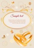 Wedding invitation template Royalty Free Stock Image