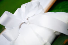 Wedding Rings. On the white pillow royalty free stock photo