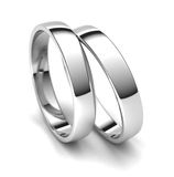 Wedding Rings. Two wedding rings isolated on white background Stock Images