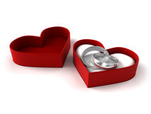 Wedding Rings. Couple of wedding rings in box Stock Image