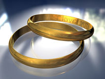 Wedding Rings. In blue Stock Photo
