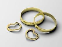 Wedding rings Stock Photography