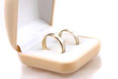 Wedding rings. On white background Stock Image
