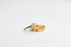Wedding rings Royalty Free Stock Images