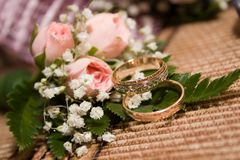 Wedding rings-3 Stock Photos