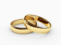 Wedding rings. Pair of golden wedding rings Stock Photography