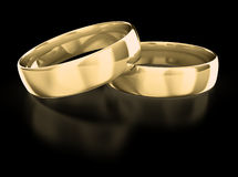 Wedding rings. Isolated on Black Stock Photography
