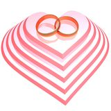 Wedding rings. Design, gold, heart, love, jewelry, marriage, rings, valentines, wedding vector illustration