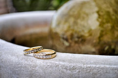 Wedding rings. With brilliant  on beautiful background Stock Images