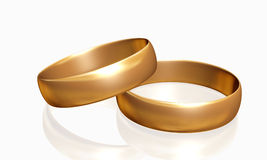Wedding Rings 3D Stock Photo