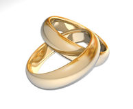 Wedding Rings 3D Stock Photography