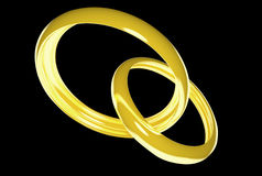 Wedding rings (3D) Stock Images