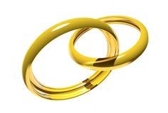 Wedding rings (3D) Royalty Free Stock Image