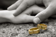 Wedding Rings 4 royalty free stock photos