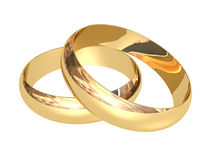 Wedding rings Stock Photos