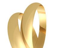 Wedding rings. Two wedding rings on a white background royalty free illustration