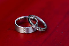 Wedding Rings. Before the wedding ceremony Royalty Free Stock Images