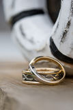 Wedding Rings. Before the wedding ceremony royalty free stock image