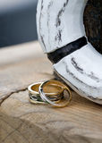 Wedding Rings. Before the wedding ceremony royalty free stock photography