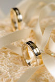 Wedding rings. Shallow focus with only the closest one in focus Stock Photography