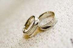 Wedding rings. Close up of wedding rings Royalty Free Stock Photography