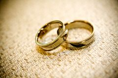 Wedding rings. Close up of wedding rings Stock Image