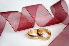 Wedding rings. Picture of golden rings Royalty Free Stock Image