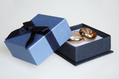 Wedding rings. Picture of golden rings royalty free stock photography