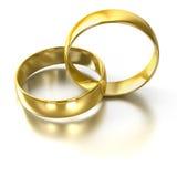 Wedding rings. Isolated on white Royalty Free Stock Photo
