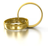 Wedding rings. Isolated on white Stock Photos